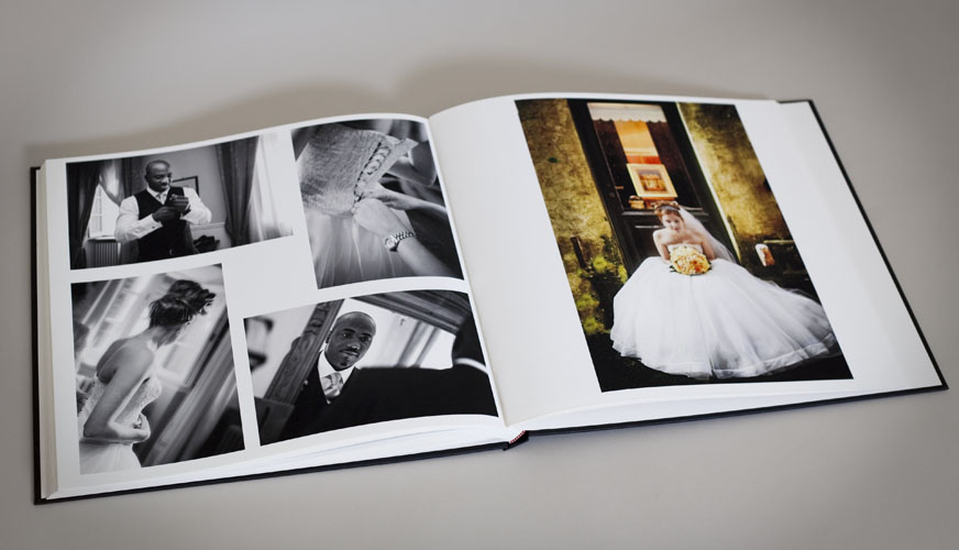 Fine Art Wedding Album bound by hand