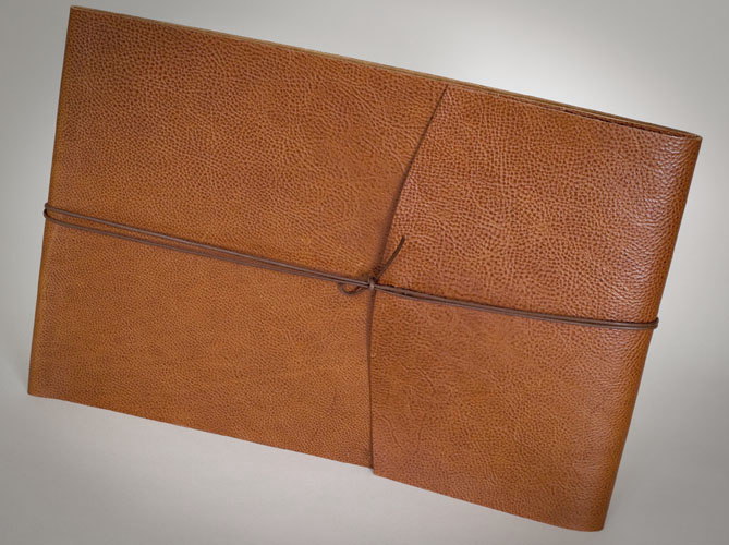 Wedding album with brown leather cover