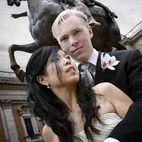 wedding photo in Rome