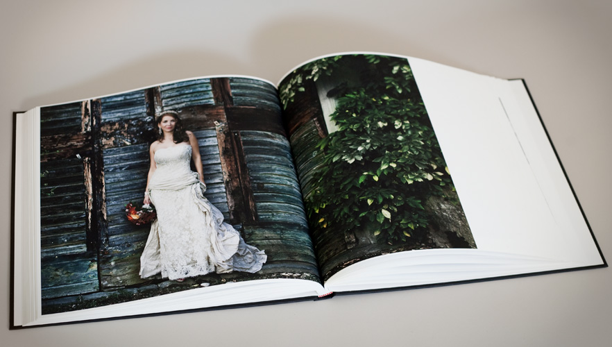 Hand-sewn wedding album